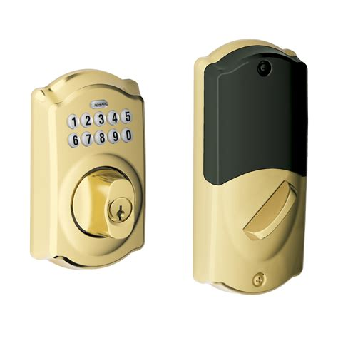 schlage front door lock camelot style connected keypad deadbolt door lock schlage
