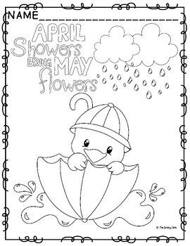 april showers coloring pages coloring pages april showers bring may flowers by