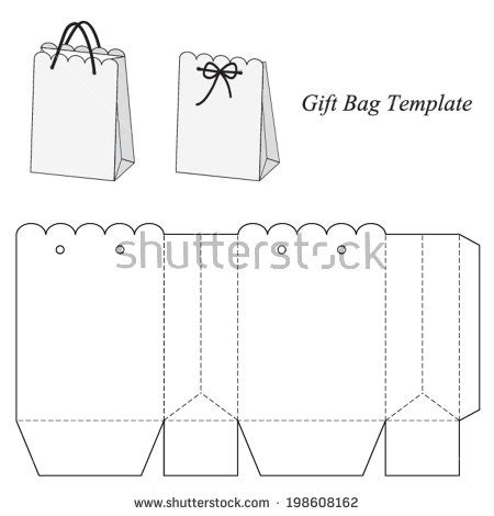 Jeyart S Portfolio On Shutterstock Make Your Own Gift Bags Template