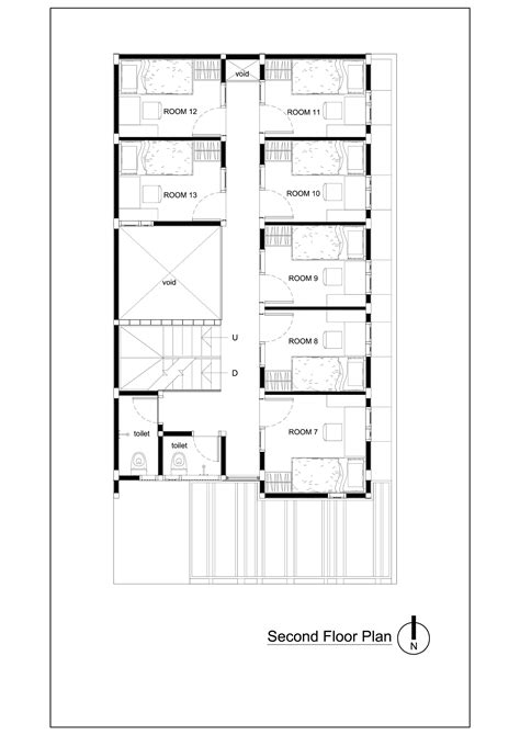 Draw Floorplan gallery of bioclimatic and biophilic boarding house