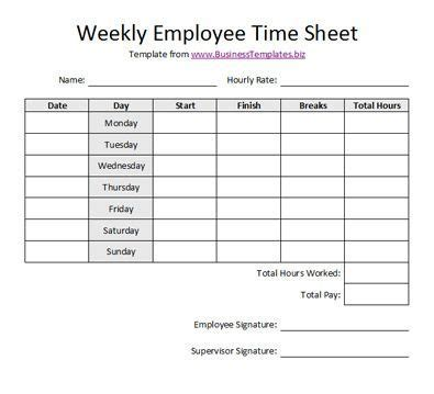 Free Printable Timesheet Templates Free Weekly Employee Time Sheet Template Exle Bedroom Weekly Invoice Template
