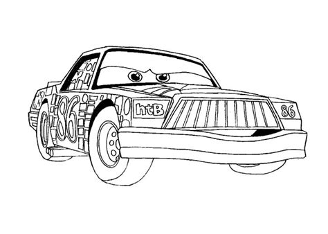 cars chick hicks coloring pages disegni da colorare