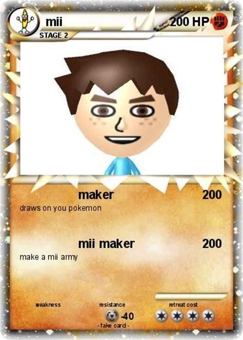 pokemoncardmaker org make your own card pok 233 mon mii 149 149 maker my card