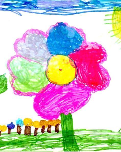 come si disegnano i fiori come capire i disegni dei bambini io donna