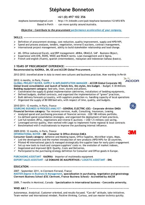 Sourcinge Analyst Sle Resume by Procurement Specialist Resume Resume For Study