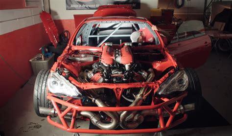 A Ferrari Engine by Toyota Gt86 With A Ferrari V8 Engine