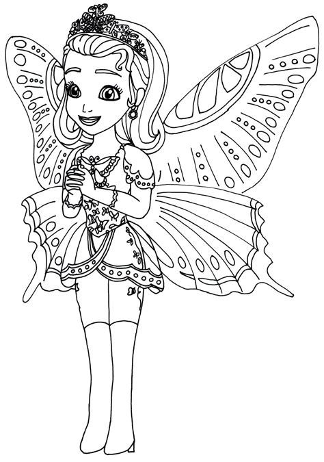 Sofia The First Coloring Pages Princess Butterfly Sofia The First Coloring Page Coloring Sofia The Coloring Pages