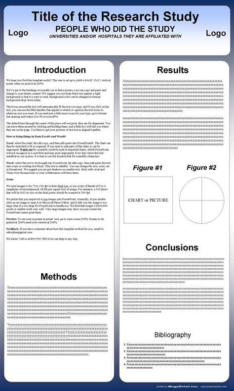 research poster template powerpoint casseh info