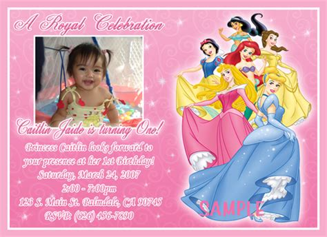 disney princess birthday card templates disney birthday invitations ideas bagvania free