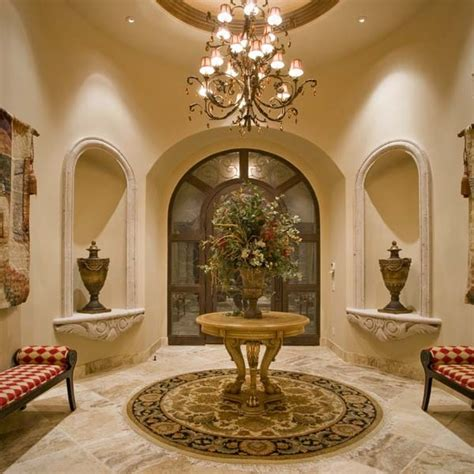 foyer niche decorating ideas foyer with carved niches for the home