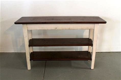 sofa tables with shelves rustic white sofa table with 2 shelves farmhouse side