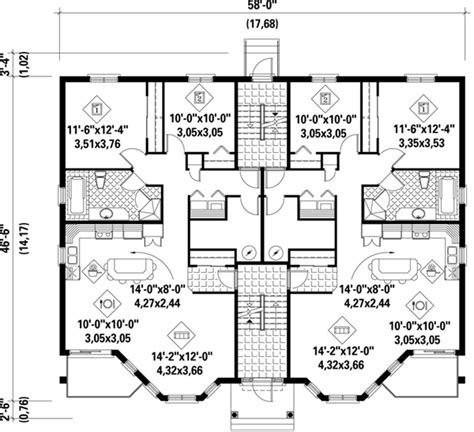 multiplex house plans multi family house plans multi plex home floor plans at coolhouseplans com