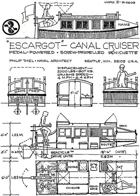 pedal power afloat - Escargot Boat Plans