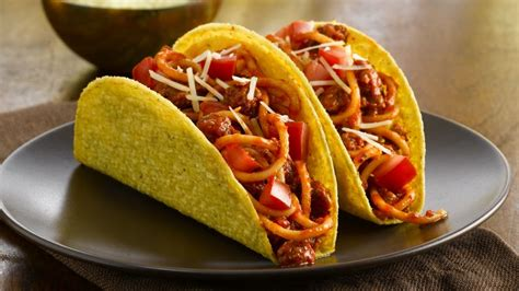 Salad Pasta by Fiesta Spaghetti Tacos Recipe Bettycrocker Com