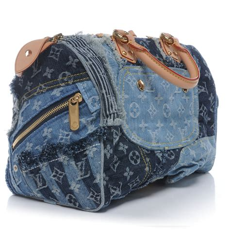 Louis Vuitton Patchwork - louis vuitton denim patchwork speedy 30