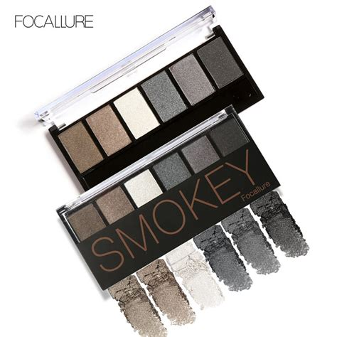 Eyeshadow Kit focallure 6 colors eyeshadow palette glamorous smokey eye shadow shimmer colors makeup kit by