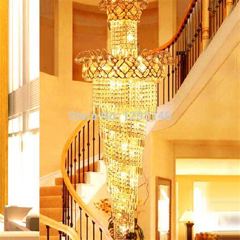 Big Chandelier Lights Big Spiral Stairway Chandelier Led Ls Gold