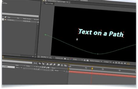 tutorial after effects path creating animated text on a path in after effects