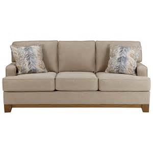 Backless Loveseat Benchcraft Hillsway Contemporary Sofa With Exposed Wood