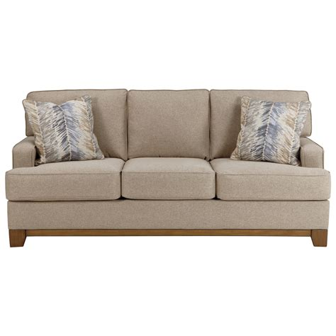 benchcraft sofas benchcraft hillsway 3410438 contemporary sofa with exposed