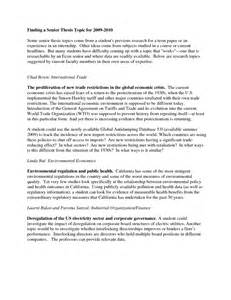 Topics For College Research Papers by Writing Research Papers For High School Students 187 Essay