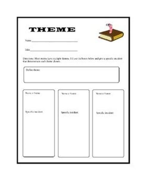 theme in literature graphic organizer theme graphic organizer teachers pay teachers edcuation