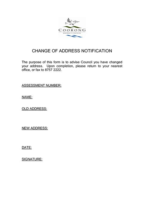 template for change of address best photos of template notice of name change company