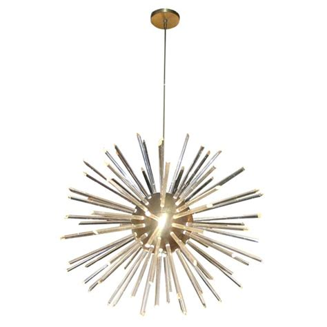 Starburst Chandelier Spectacular Starburst Chandelier With Acrylic Rods At 1stdibs