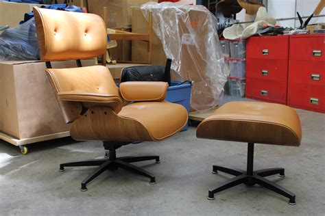 plycraft chair and ottoman selig plycraft style lounge chair and ottoman restoration