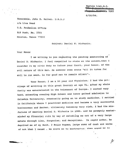 Sle Letter To Judge For Leniency In Sentencing Character Letter To Judge Before Sentencing Sle