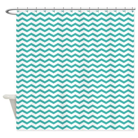 aqua and white chevron curtains aqua blue chevron shower curtain by inspirationzstore