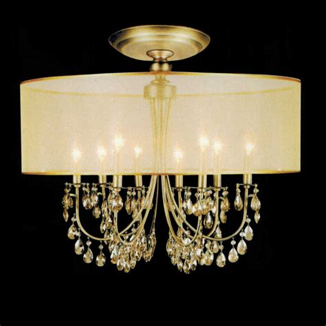 Flush Bathroom Ceiling Lights by 629 10 28 Quot Organza Contemporary Round Crystal Flush