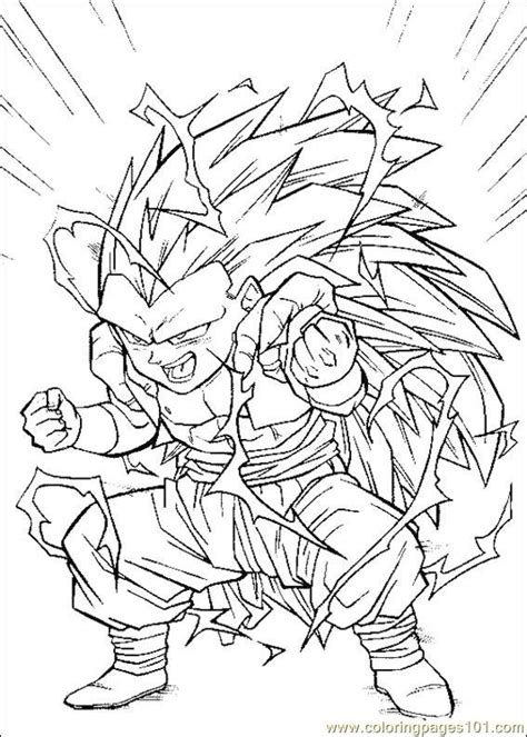 free coloring pages of dragon ball z not color