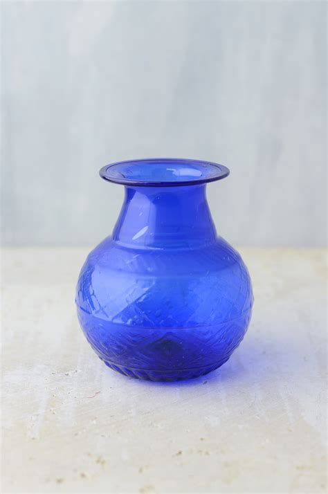 cobalt blue glass 5 quot vase