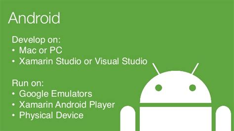 android studio run on device desert code c 2014 ios and android development for c developers