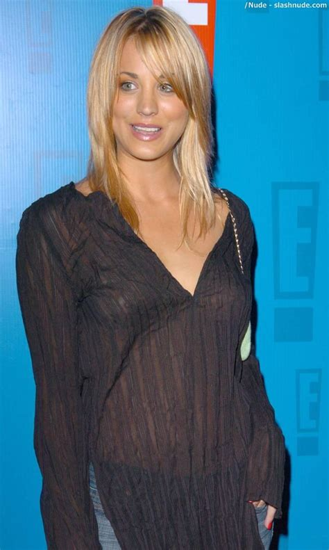 Kaley Cuoco Wardrobe by Kaley Cuoco Revealed In See Through Top Photo 2