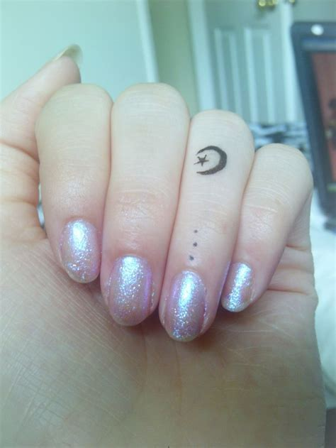 small star and moon tattoos 39 lovely moon finger tattoos
