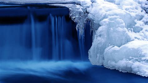 wallpaper lake  hd wallpaper waterfall water snow