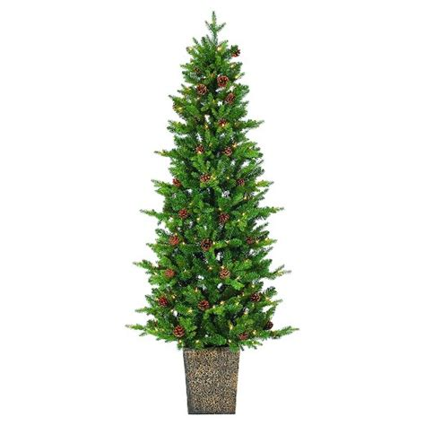 tree in lighted pot 6 pre lit artificial tree porch pot pine clear lights target
