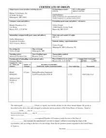 certificate of origin template pdf certificate of origin template certificate templates