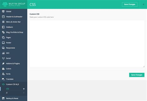 css header design exles documentation for be wordpress theme created by muffin group