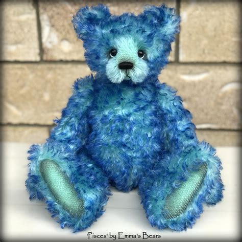 bear glass creates modern glass desktops bear glass blog pisces 14 quot curly kid mohair artist bear by emmas bears