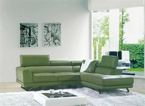 Green Sectional Sofa Best 15 Of Green Leather Sectional Sofas