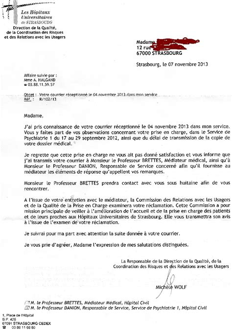 Lettre De Motivation Stage Hopital Psychiatrique porter plainte contre un h 244 pital psychiatrique proc 233 dure