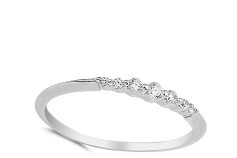 thin wedding ring new 925 sterling silver stackable band