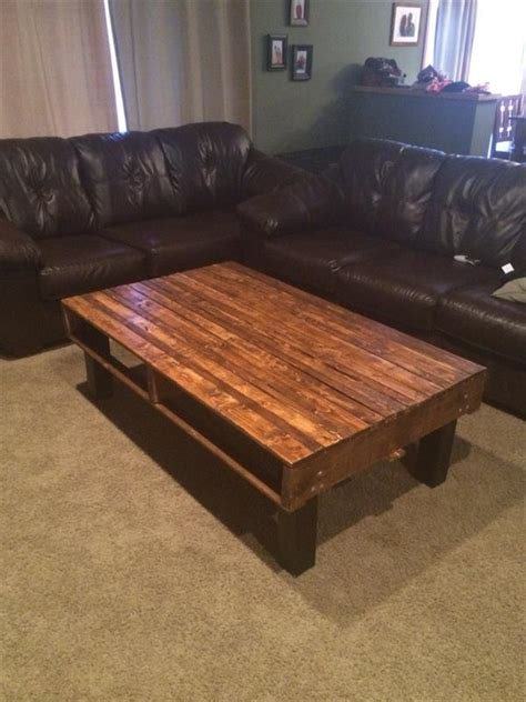 diy simple pallet wood coffee table pallet furniture plans