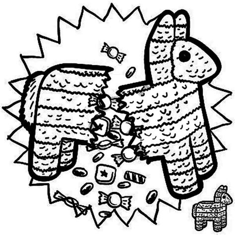 donkey pinata coloring page drawing mexican donkey coloring pages how to draw
