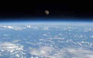 Earth and moon seen from the international space station earth blog