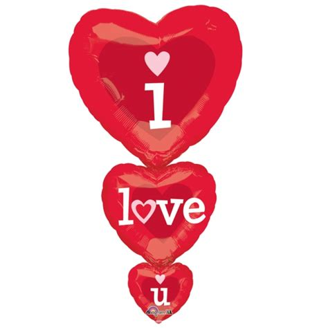 Dijamin Balon Foil You Are Loved 36 quot i you hearts supershape foil balloon