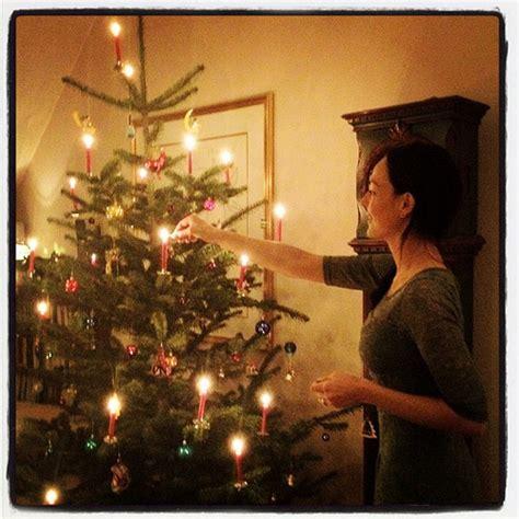 german christmas tree with real candles hamburg flickr